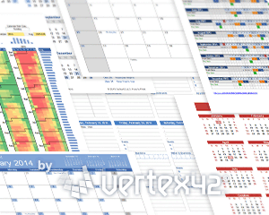 Vertex42's 10 ways to use calendar templates
