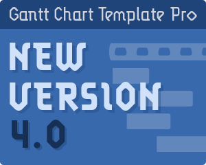 Gantt Chart Template Pro version 4.0
