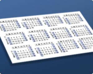 Print a Yearly Calendar on a Business Card thumbnail