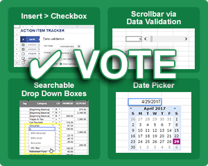 Excel Suggestions You Can Vote On