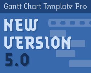 Gantt Chart Template Pro version 5.0