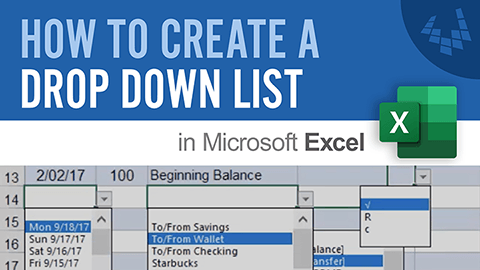 Learn how to create a simple drop-down list in Excel