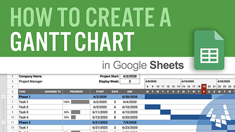 Watch How to Create a Gantt Chart in Google Sheets