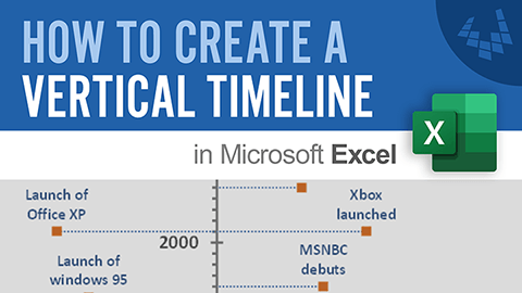 Watch a tutorial showing exactly how to create a vertical timeline in Excel