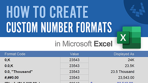 Learn how to create custom number formats in Excel