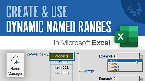 Learn how to create dynamic named ranges in Excel.