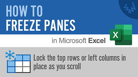 Learn how to Freeze Panes in Excel to stop the top few rows from scrolling