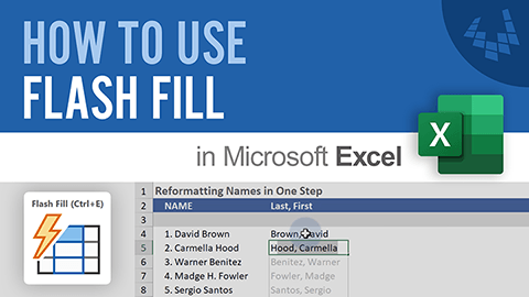 Learn how to Use Flash Fill to quickly format data in Excel