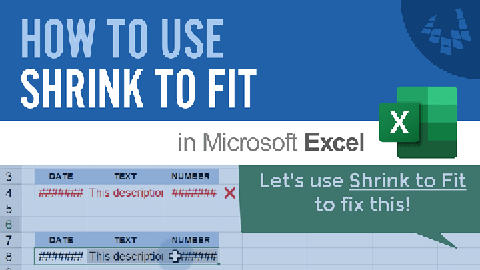 Learn how to use Shrink to Fit in Excel to make text automatically fit within a cell.