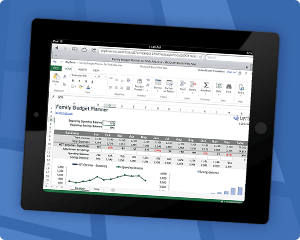 Templates for Excel Web App on iPad thumbnail