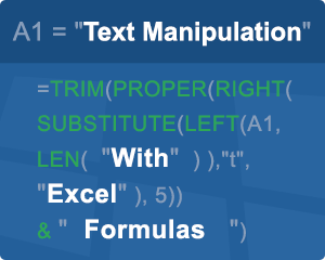 Text Formulas in Excel