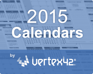 Vertex42 Calendar Templates for 2015