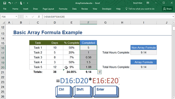 How to Create Array Formulas in Excel