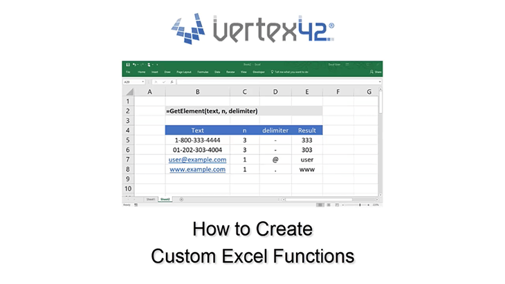 How to Create Custom Excel Functions