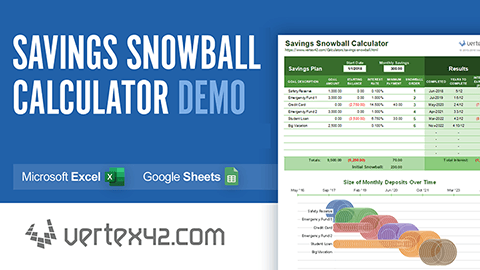 Video: Savings Snowball Calculator Demo