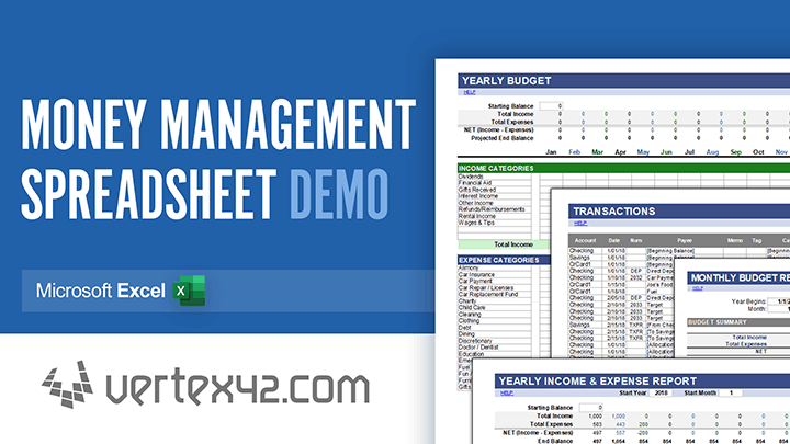 Video: Learn how to use the Money Management Template by Vertex42.com