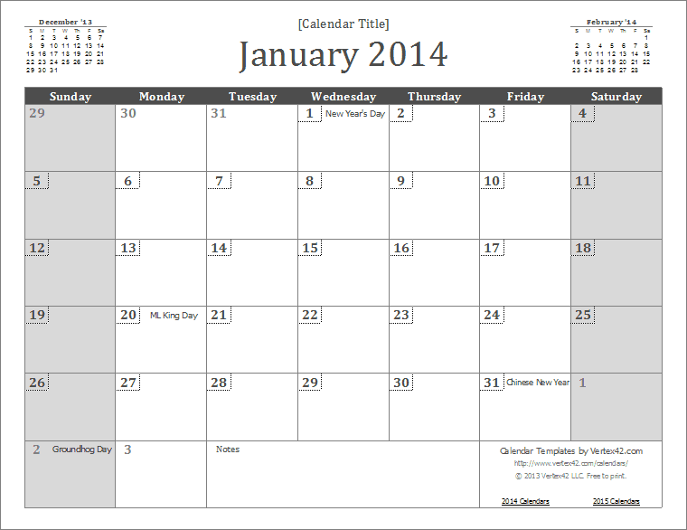 ms office calendar template 2014 - 2014 monthly calendar template doliquid