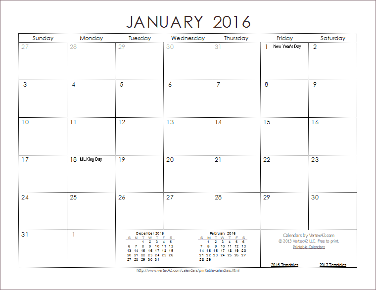 Free 2015 Calendars You Can Edit
