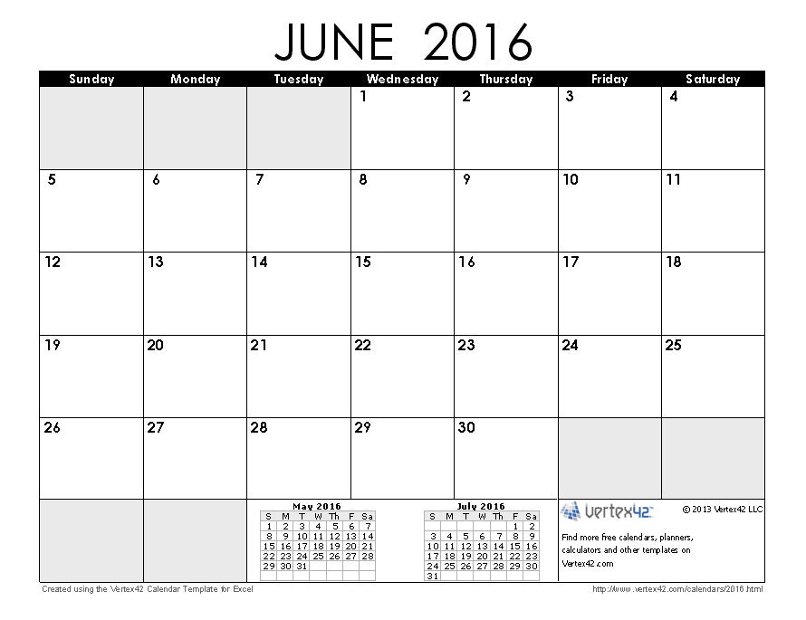 June Calendar Vertex : Calendar templates and images