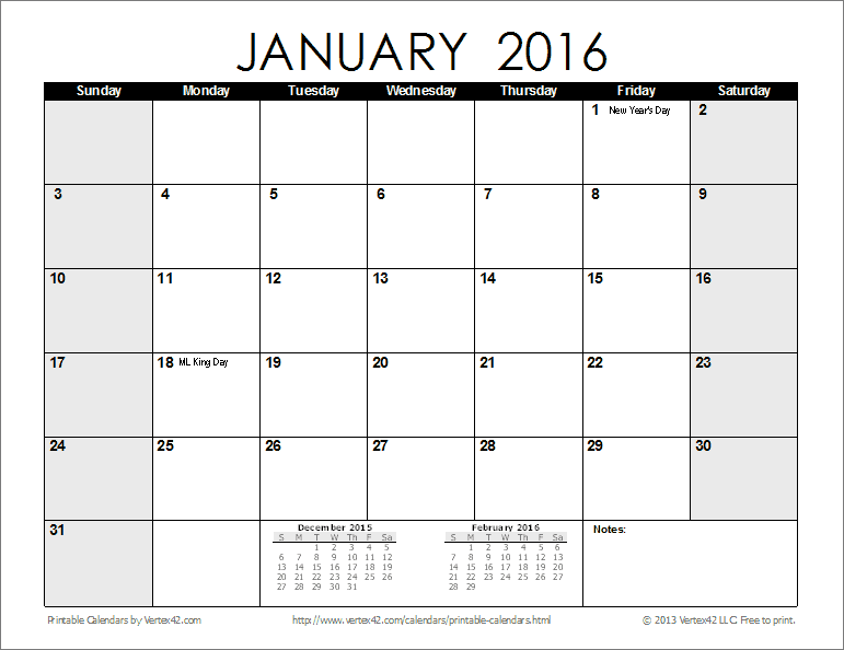 Monthly Calendar Printable 2013 2014 | Autos Weblog