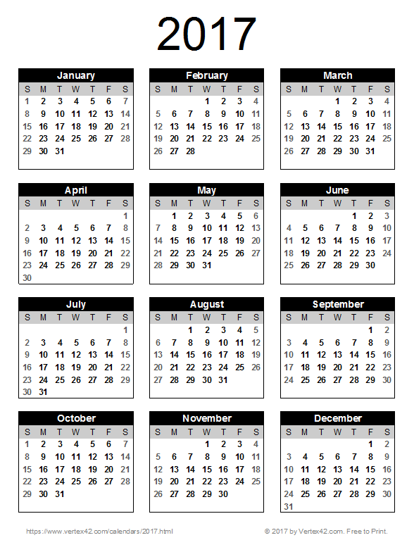 Rest Of Year Calendar : Calendar templates and images