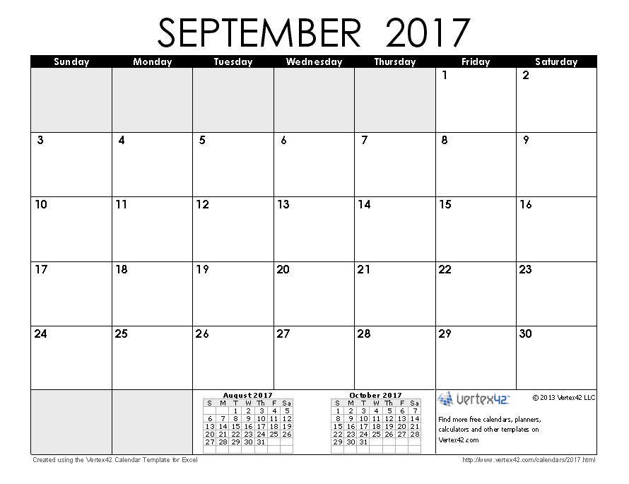 2017 Calendar Templates And Images