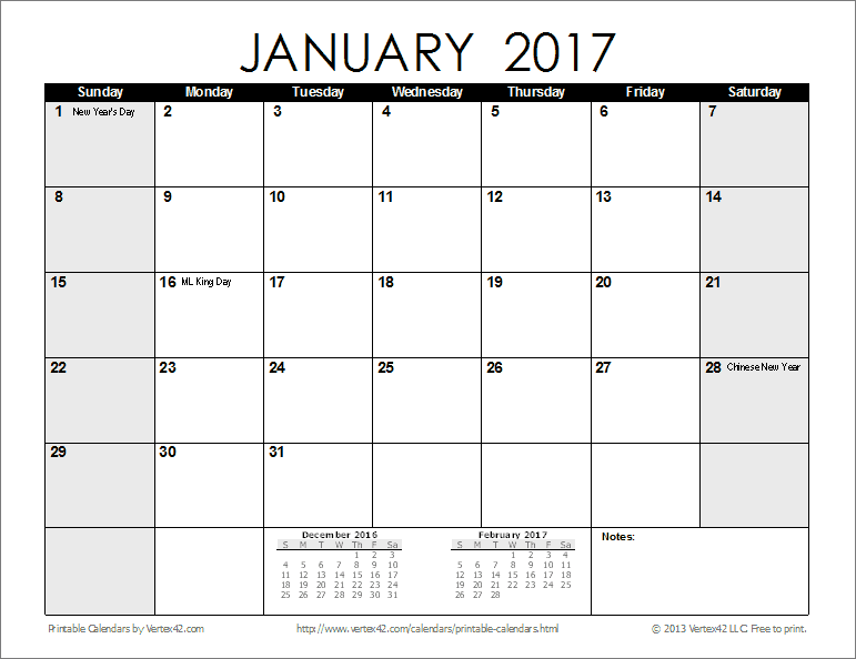 Free Printable Calendar Printable Monthly Calendars – Free Printable Monthly Calendar