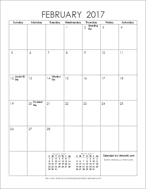 Free Printable Calendar Printable Monthly Calendars – Printable Monthly Calendars