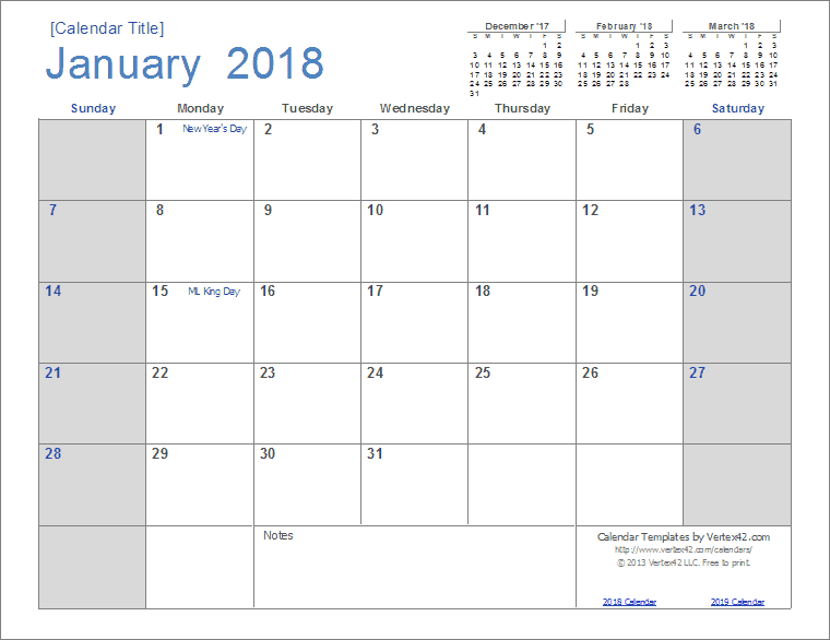2018 calendar template powerpoint - gse.bookbinder.co, Modern powerpoint