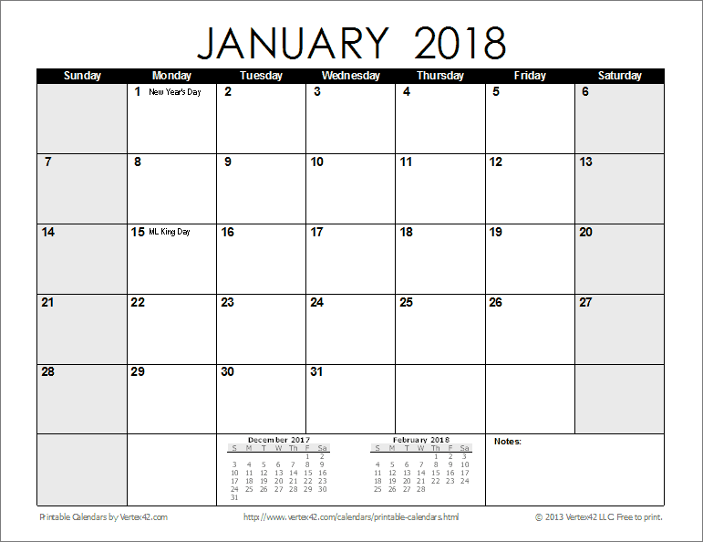 Printable Monthly Calendar With Holidays : Free printable calendar monthly calendars