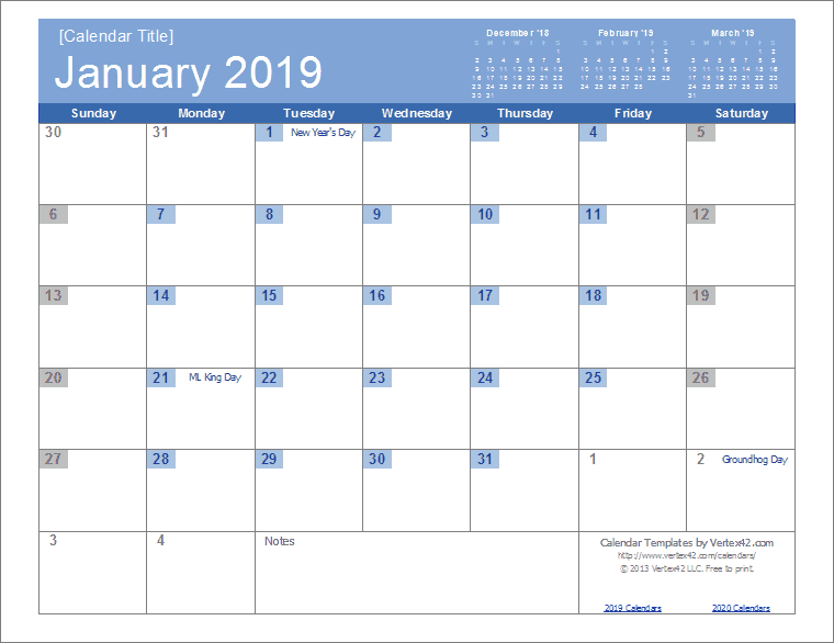 Google Calendar Template 2019 2019 Calendar Templates and Images