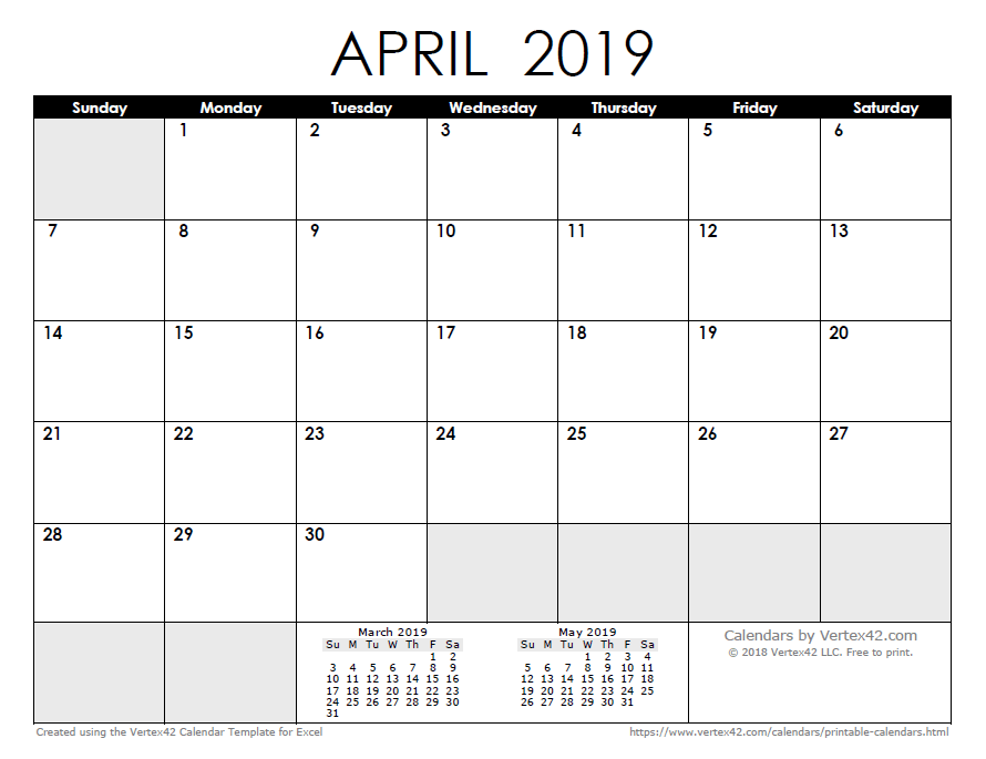 Printable Calendar March 2019.2019 Calendar Templates And Images