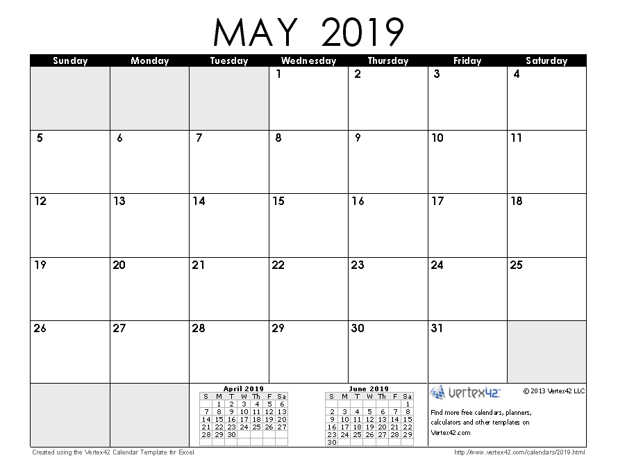 Free Calendar 2019 Download 2019 Calendar Templates and Images