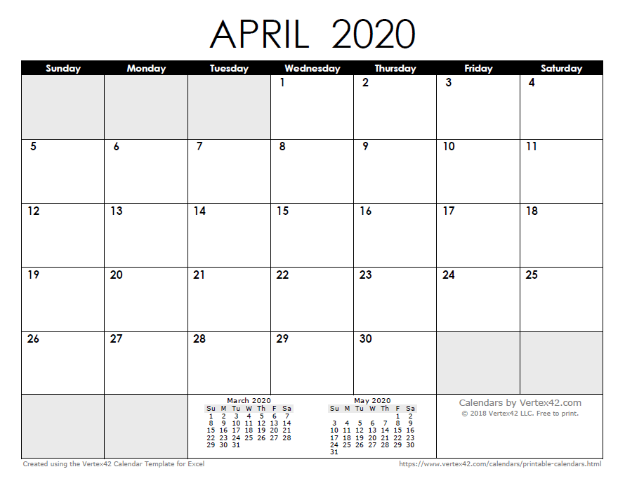 Free Calendar Templates 2020 2020 Calendar Templates and Images