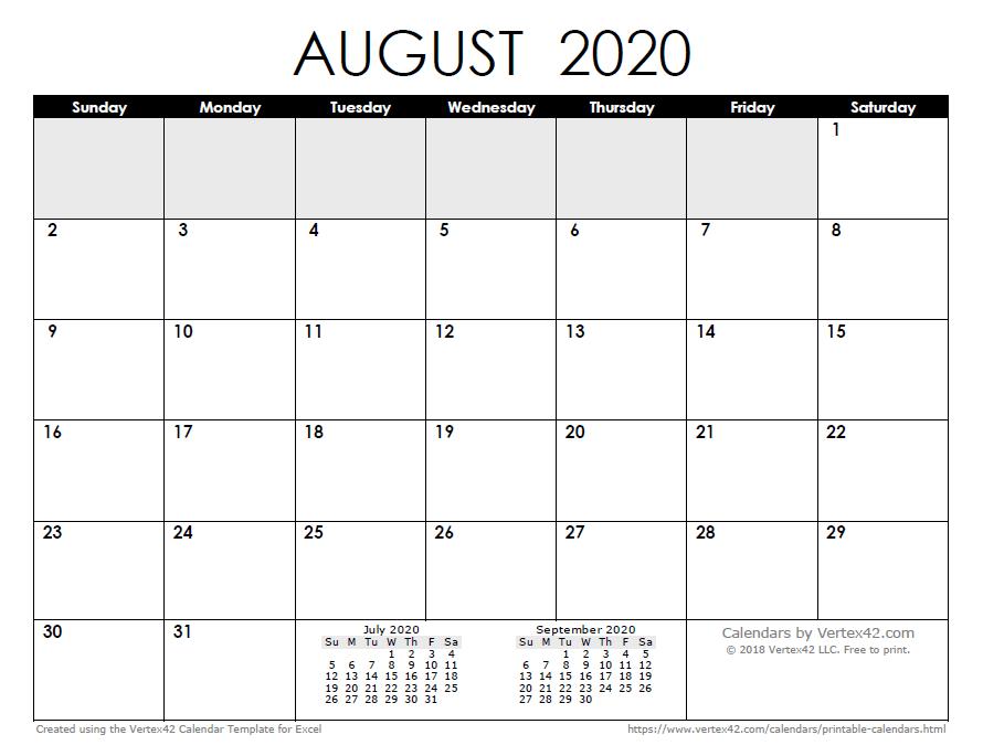 july excel calendar