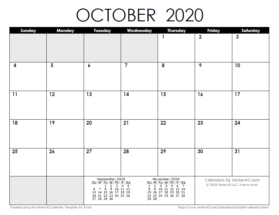 It's just a picture of Gargantuan October 2020 Printable