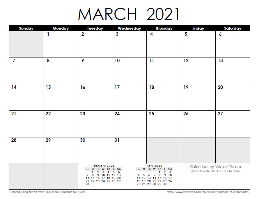 Free Printable Calendar - Printable Monthly Calendars