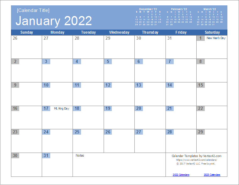 graphic relating to 2022 Calendar Printable named 2022 Calendar Templates and Shots