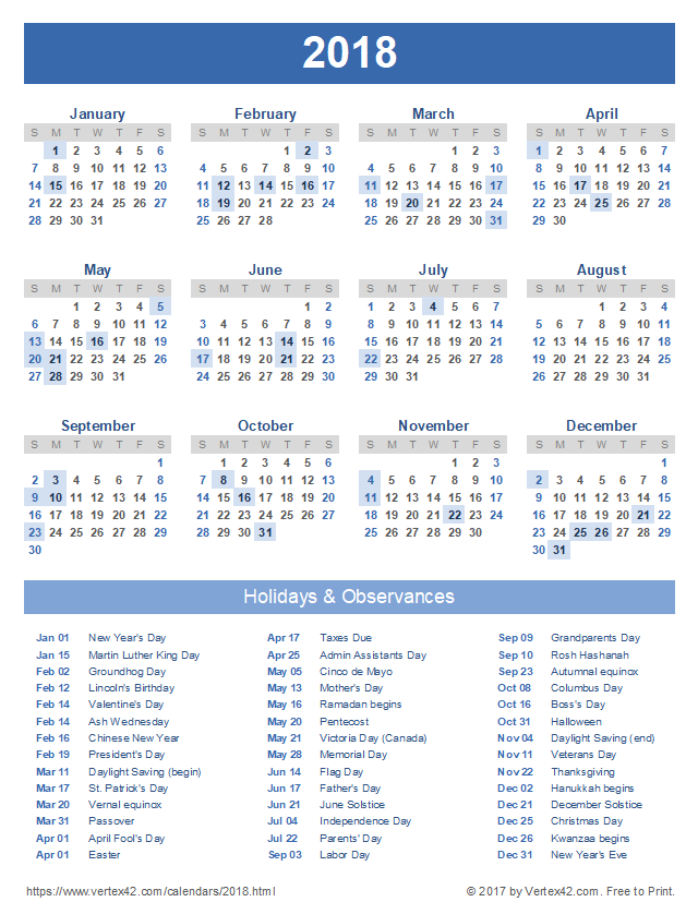 Calendar With N Holidays Pdf Free Download : Calendar templates images and pdfs
