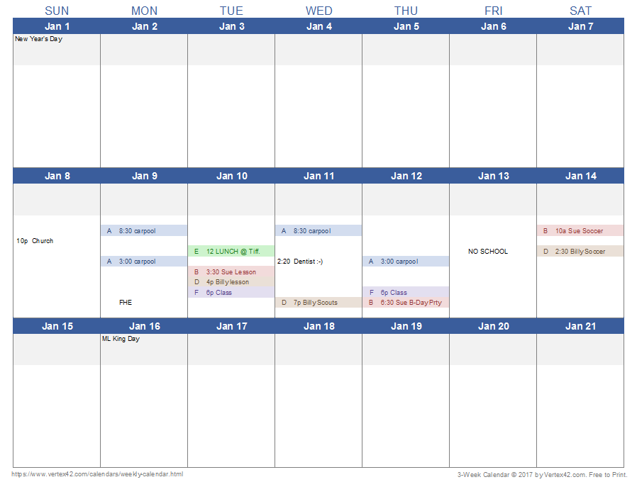 image relating to Blank Weekly Calendar Template known as Weekly Calendar Template for Excel