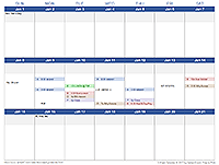 3-Week Calendar Template
