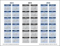 3-Year Calendar Template