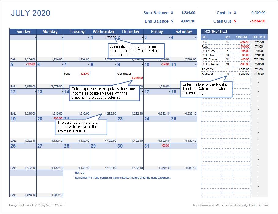 Two Week Budget Template from cdn.vertex42.com