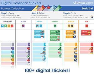 Digital Calendar Stickers