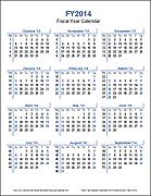 Fiscal Year Calendar - Portrait