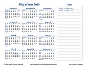 Fiscal Year Calendar