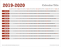 Horizontal Yearly Calendar