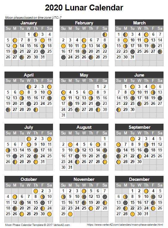 Free Printable Moon Phase Calendar 2021 | Printable March