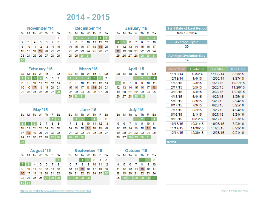 Ovulation calendar template for excel ovulation calendar template urtaz Images