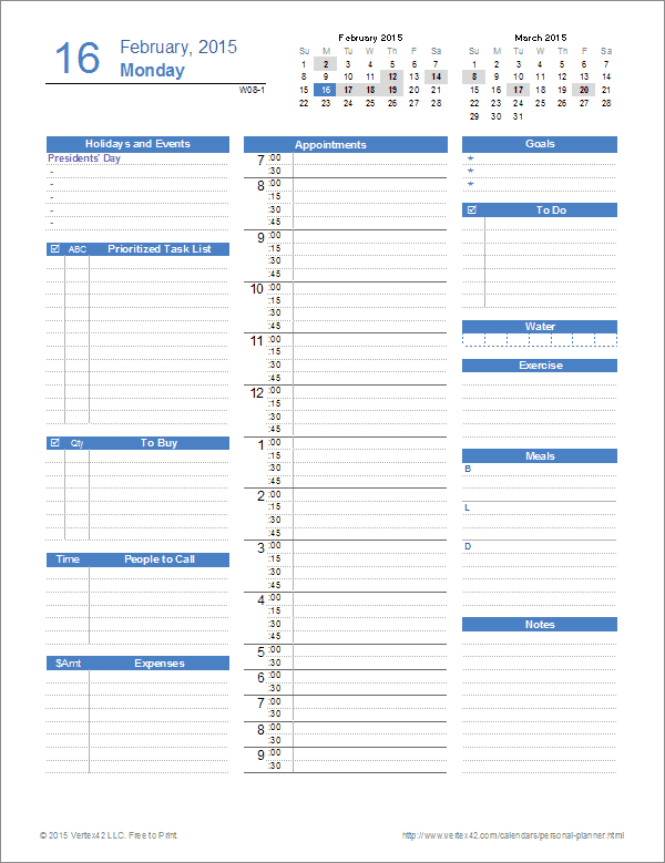 weekly to do list template excel